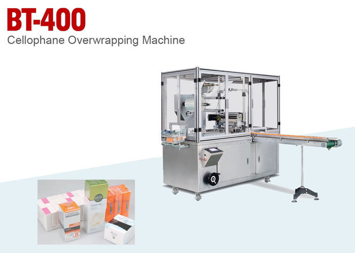 Single Box Or Boxes Cellophane Overwrapping Machine For Cosmetics